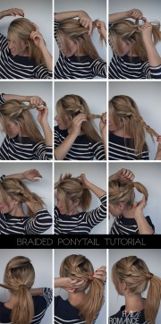 easy braided ponytail hairstyle