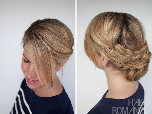 Hairstyle How To Easy Braided Updo Tutorial Hair Romance