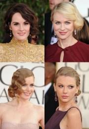 red carpet hair trends - golden