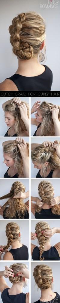 Hairstyle for curly hair: Dutch braid tutorial - Hair Romance