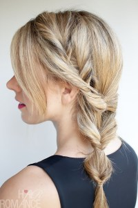 Topsy Tail Ponytail Tutorial - The no-braid side braid ...