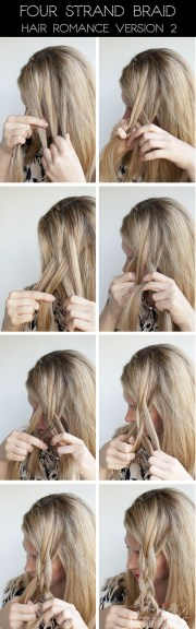 hairstyle tutorial - four strand