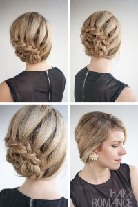 Curved lace braid hairstyle tutorial inspired by Nicole ...