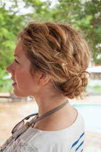 1 minute hairstyle - Braided bun in curly hair - New video ...
