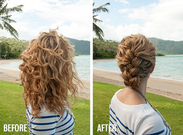 New Video Tutorial Tucked French Braid Updo In Curly Hair Hair