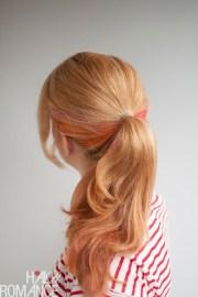 fake long ponytail