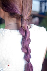 hair trends purple ombre