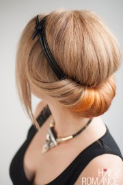 chic rolled updo