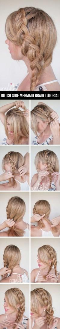 Dutch Side Braid Hairstyle Tutorial Hair Romance | Rachael ...