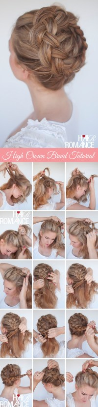 New braid tutorial  the high braided crown hairstyle ...