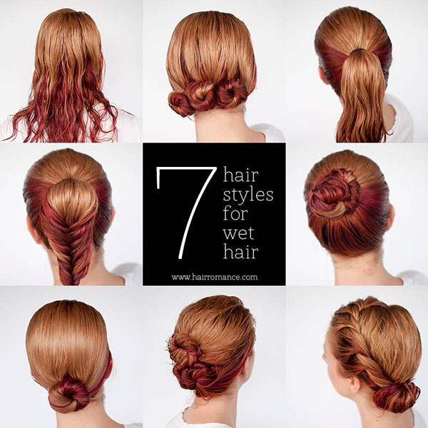 hair romance 7 hairstyle tutorials you can do in wet hair