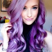 big hair friday - purple pink