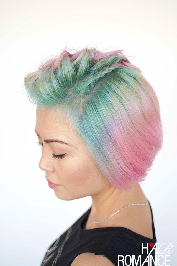 Braids for short hair  Fauxhawk braids and unicorn hair