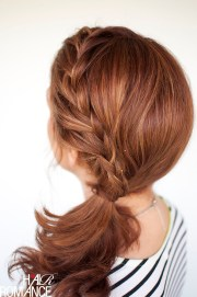 weekend style - braided ponytail