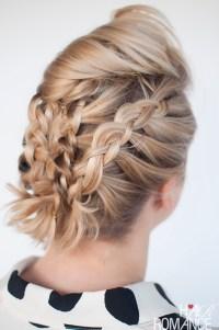 How to braid short hair tutorial
