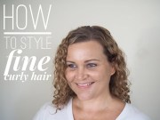 style fine curly hair
