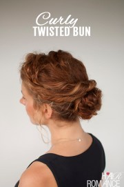 curly hair tutorial - easy twisted