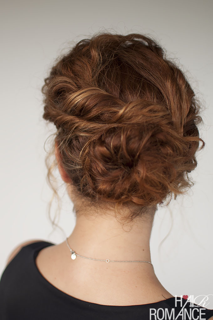 Curly Hair Tutorial Easy Twisted Bun Hairstyle Hair Romance