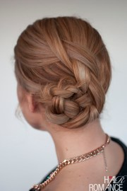 easy braided bun hairstyle tutorial