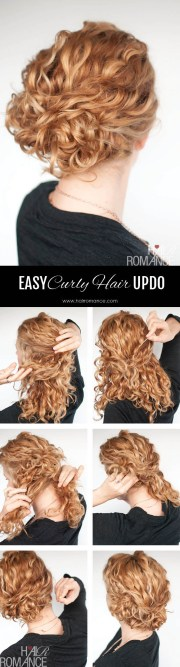super easy updo hairstyle tutorial