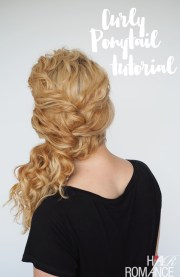 curly hair tutorial - easy ponytail