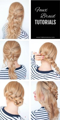 The no-braid braid - 5 pull-through braid tutorials - Hair ...