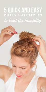 5 quick and easy curly hairstyles