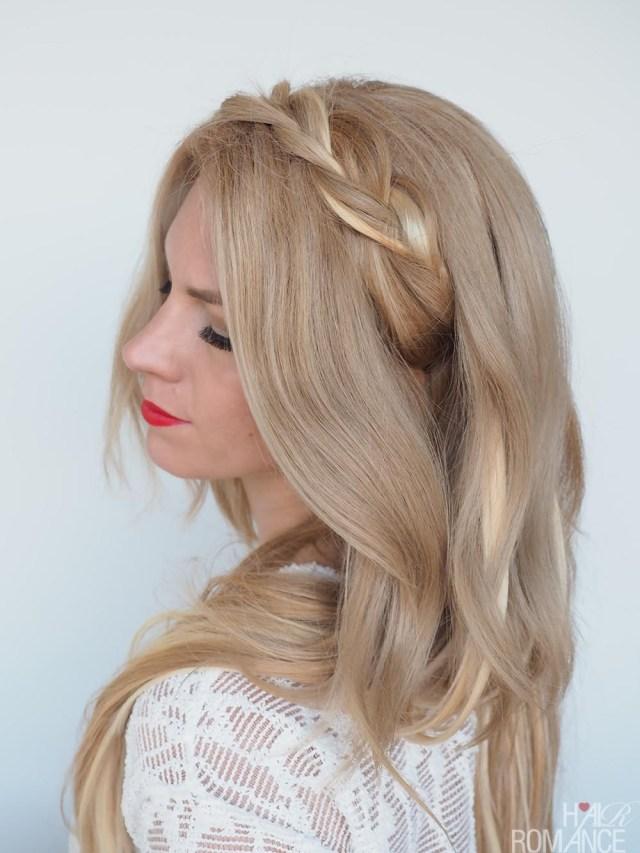 braided headband hairstyle tutorial - hair romance