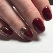 newest burgundy nails design