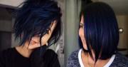 beautiful blue black hair color