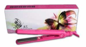 Herstyler Titanium HOT PINK Professional Straightening and Curling Iron