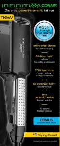 Infiniti Pro by Conair Professional 2 Inch Tourmaline Ceramic Flat Iron review