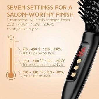 USpicy Hair Straightening Brush with FREE Heat Resistant Glove