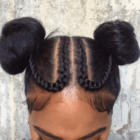 Black Hairstyles Braided Into A Bun - HairStyles