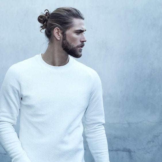 Hairbun and beard combination