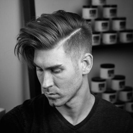 Medium Fade Pompadour Hairstyle