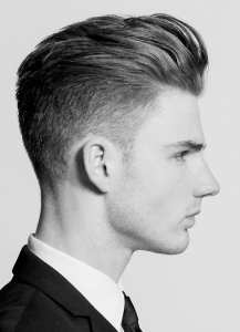 Pompadour high fade hairstyle-for men