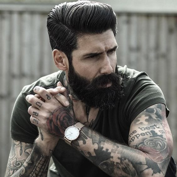 Bearded-man-with-medium-hairstyle