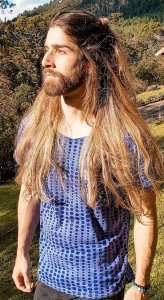 Long Straight Hairstyle for Men