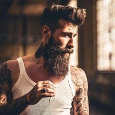 Beard + Hairstyle + Tattoo = A Sign of Hipster, isn't it.