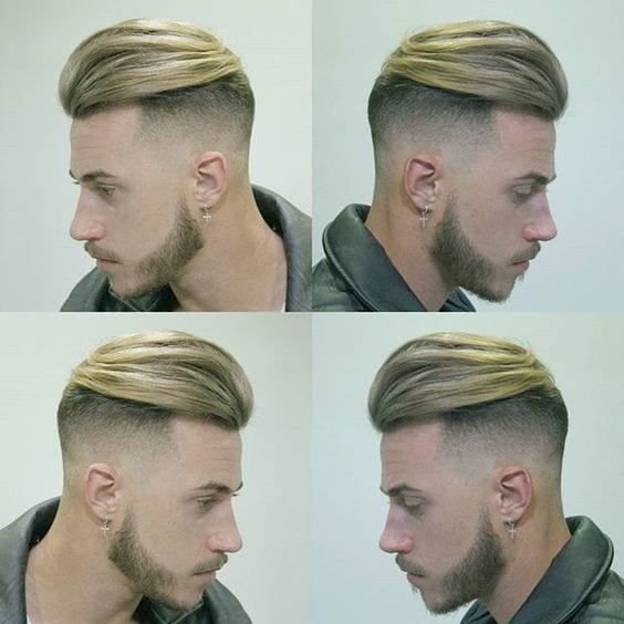 mens undercut hairstyle with long hair