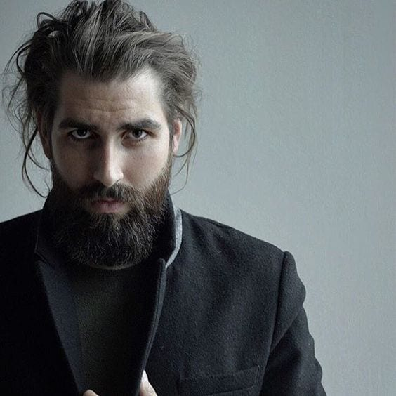 beard-long-messy-hair-combination