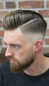 Cool Side Part Pompadour Hairstyle For Men