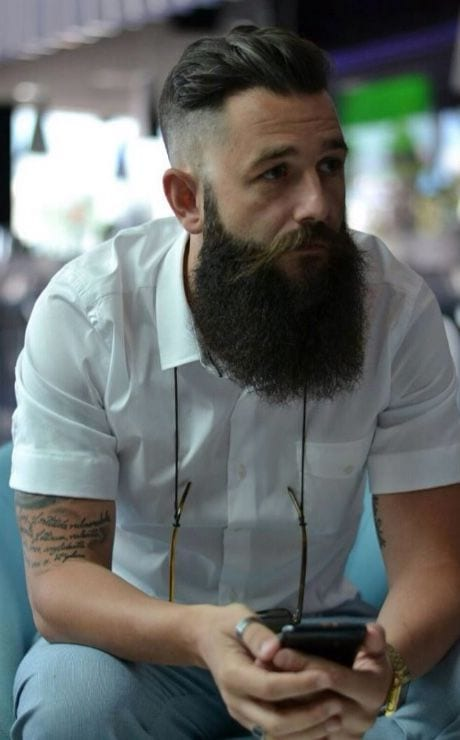 Trendy Undercut Hairstyles To Compliment Your Beard On Pinterest Right Now
