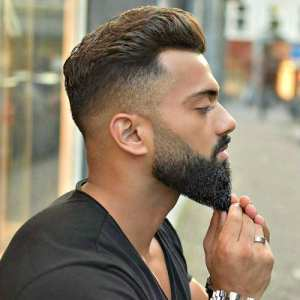 undercut-hairstyle-with-tapered-beard
