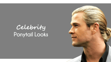 Celebrity Ponytail Hairstyles men - Ponytail haircut