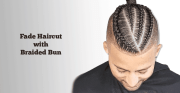 fade haircut with braided
