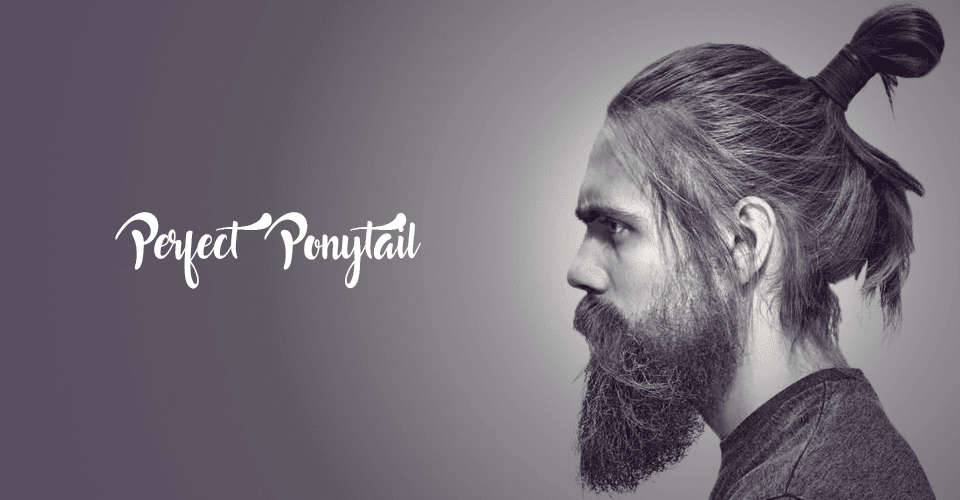 Ponytail haircut for men