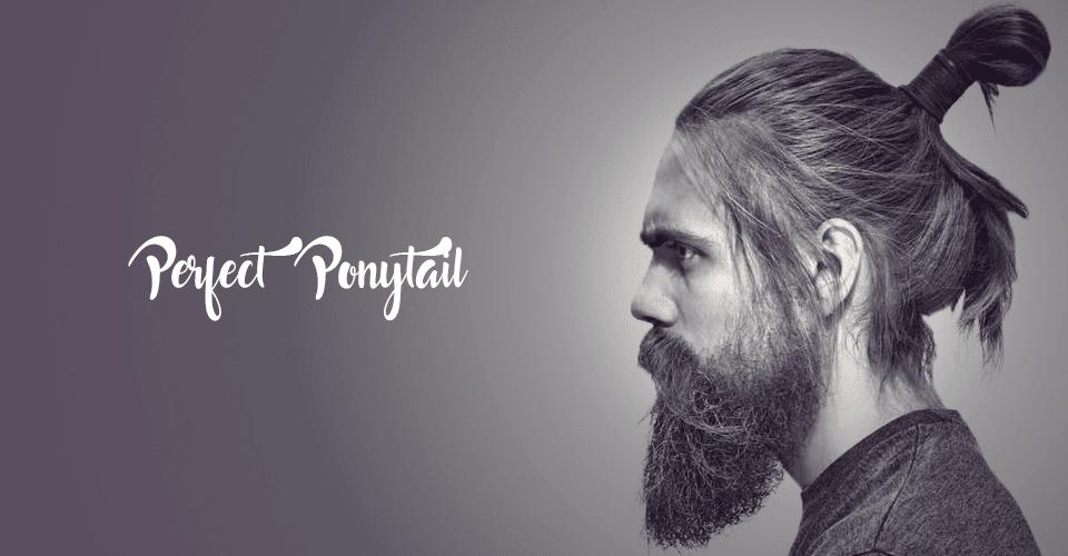 Ponytail haircut for men