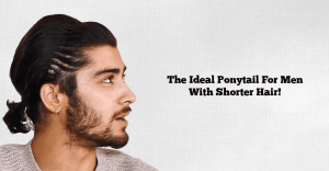 ponytail with short hair men images